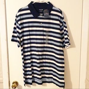NWT Men's striped polo shirt XL